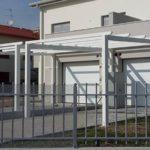tettoia in tubolare zincata e verniciata
