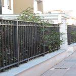 Particolare della recinzione mod. OLIMPIA verniciata NW300 M