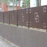 recinzione in lamiera in taglio laser su specifiche date dal cliente, il tutto zincato e verniciato