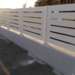 recinzione in lamiera in taglio laser, il tutto zincato e verniciato