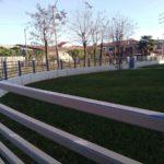 vista posa ultimata recinzione in andamento, il tutto zincato e verniciato a regola d'arte