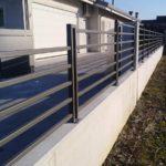 recinzione in tubolare, il tutto zincato e verniciato